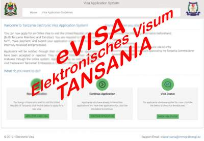 Elektronisches Visum Tansania